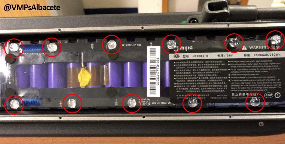 VMP Albacete - Posición lágrimas silicona bateria